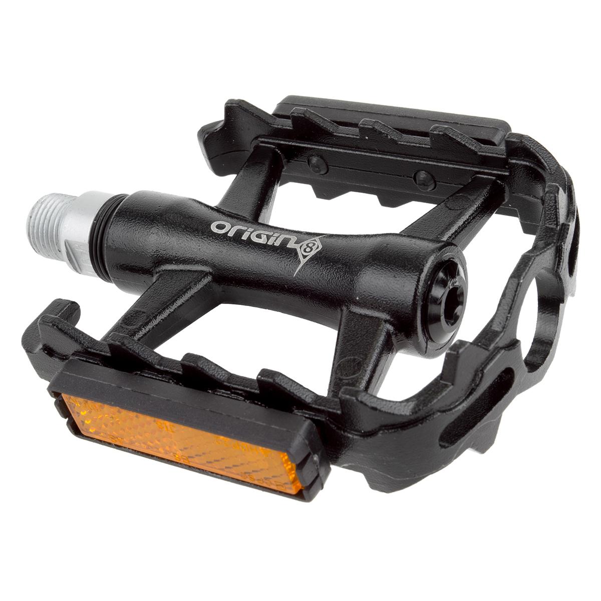 Origin8 Classique Pro Pedals Sealed 9/16 Black With Reflectors