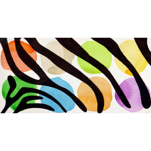 Marmont Hill 'Rainbow Zebra I V2' by Irena Orlov Painting Print on Wrapped Canvas