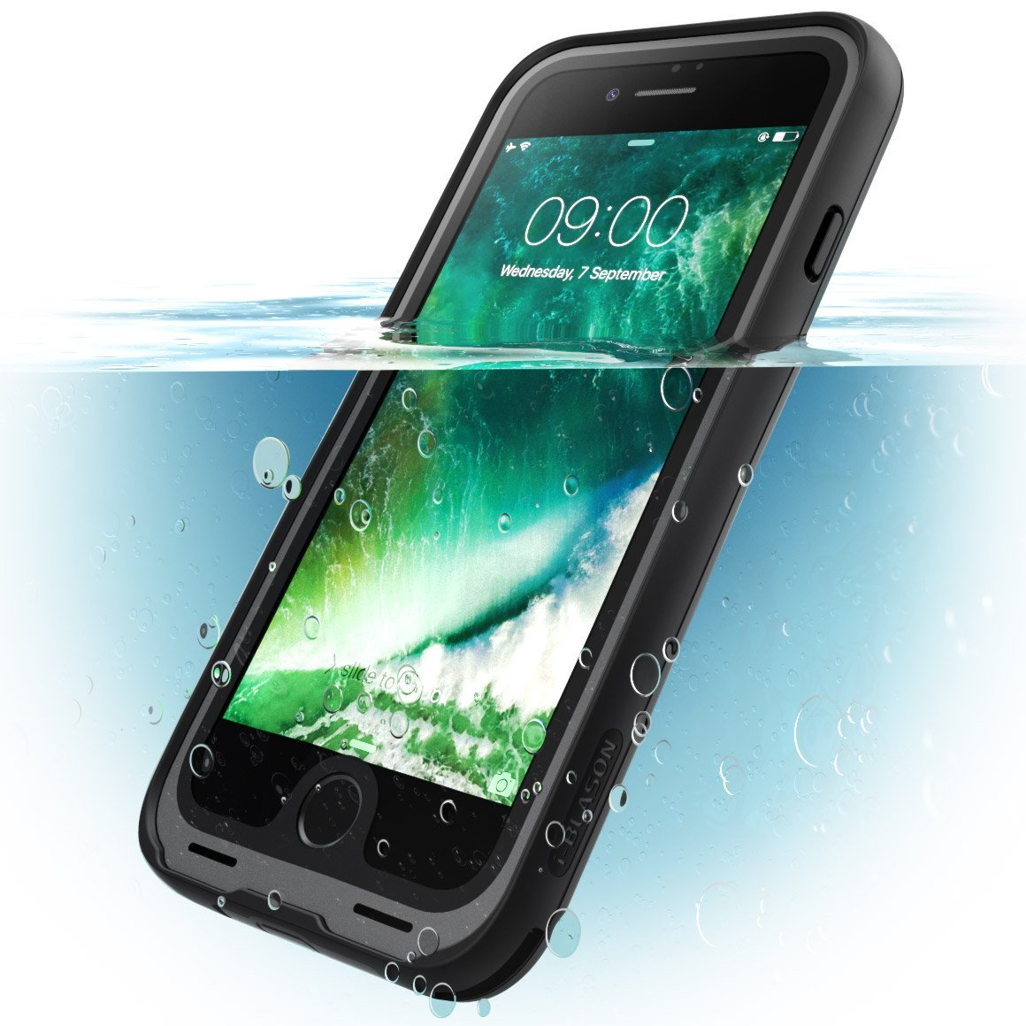 iPhone 7 Case,i,Blason,Waterproof Case with Screen Protector,Case for apple  Iphone 7,Black