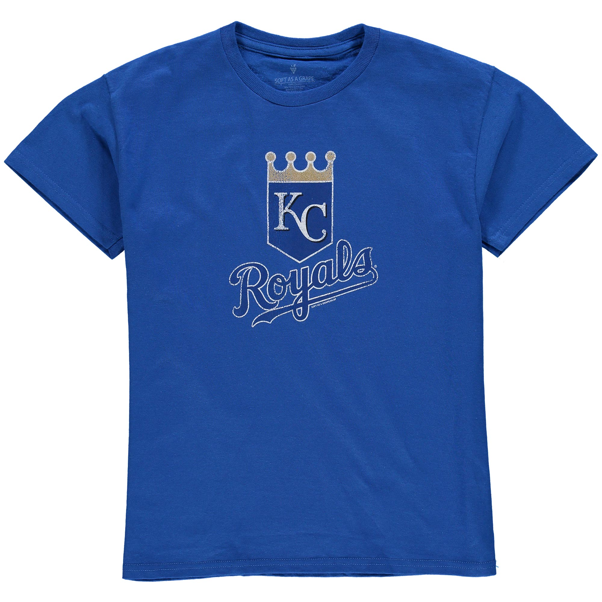 Kansas City Royals Youth Distressed Logo T-Shirt - Royal Blue
