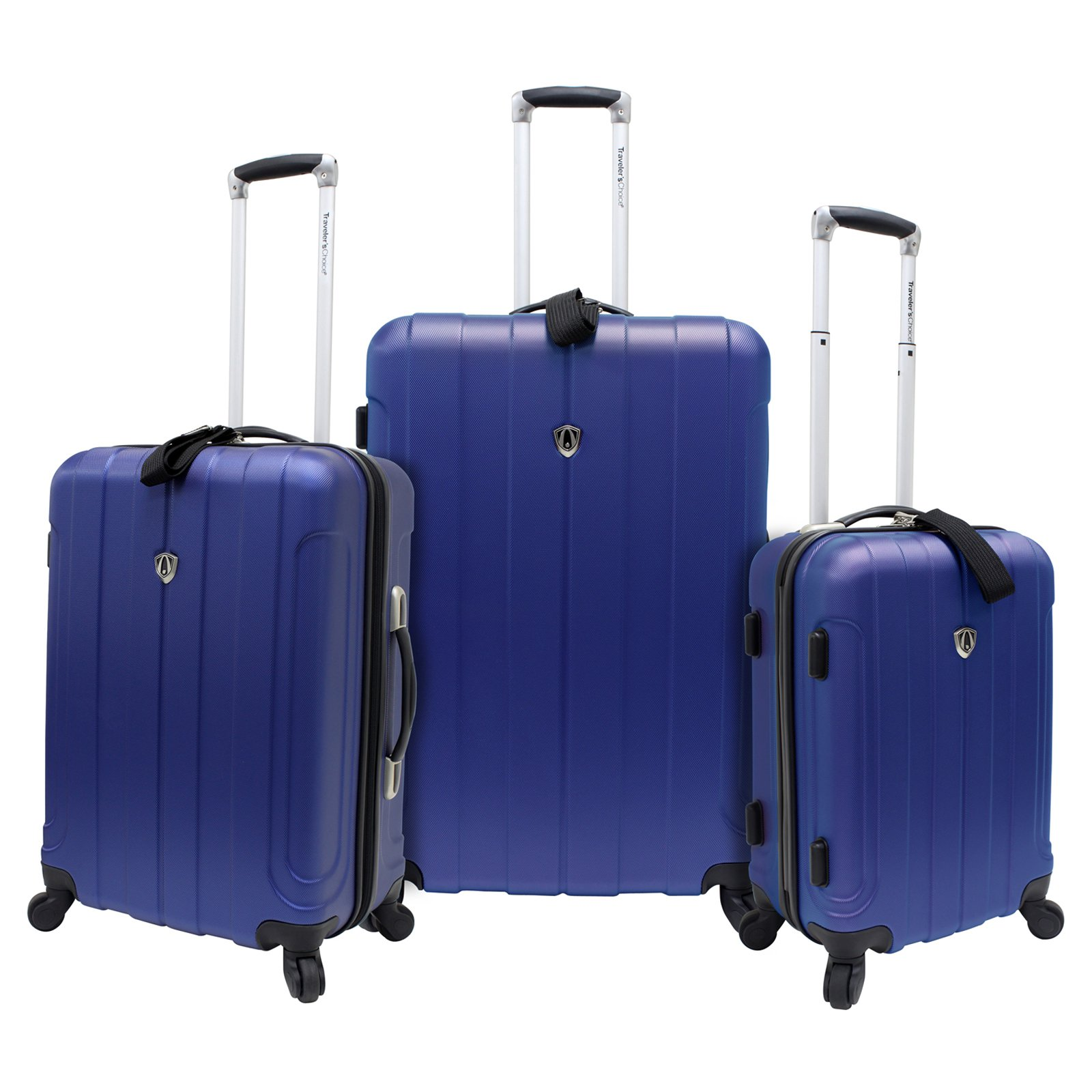 Travelers Choice Cambridge 3 Piece Lightweight Spinner Luggage Set ...