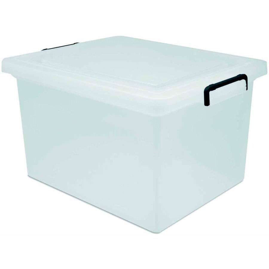 IRIS USA Inc 32 Quart WEATHERTIGHT Storage Box Clear Walmartcom