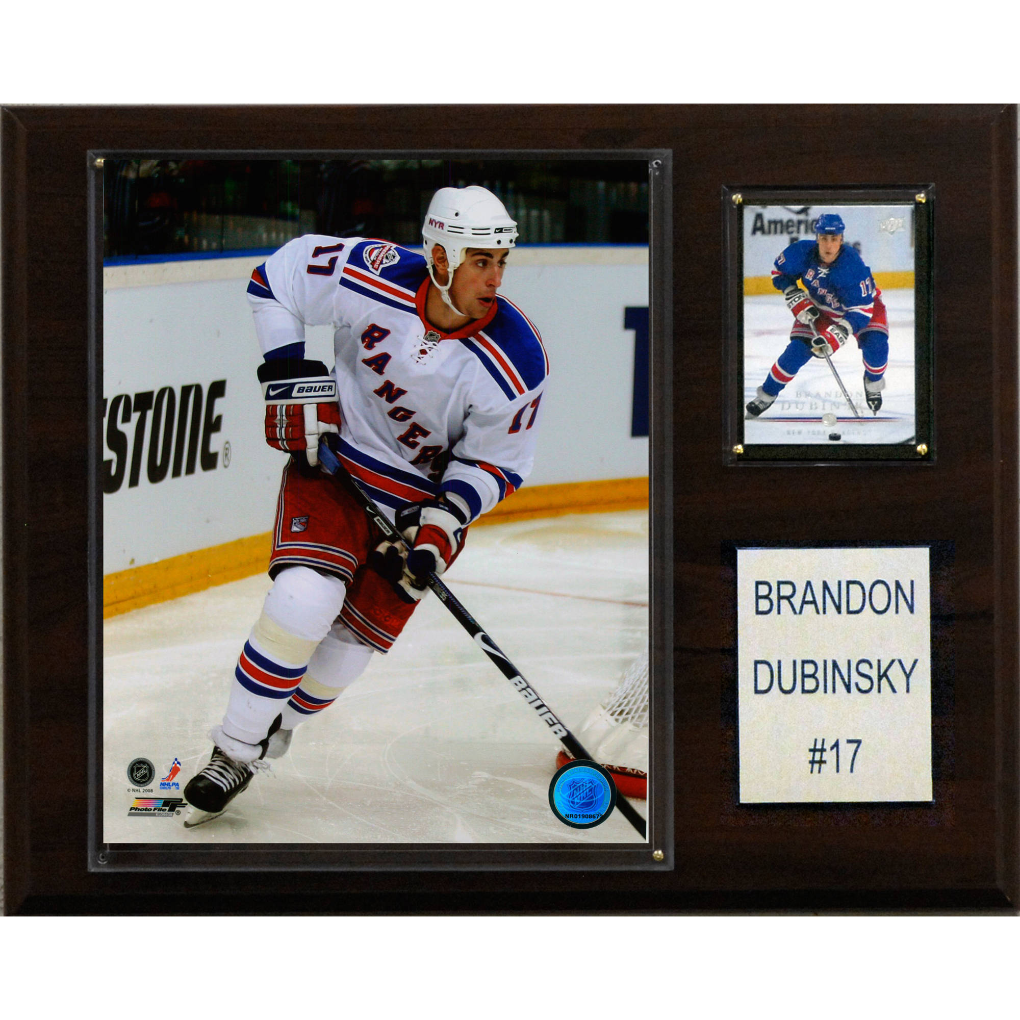 C&I Collectables NHL 12x15 Brandon Dubinsky New York Rangers Player Plaque