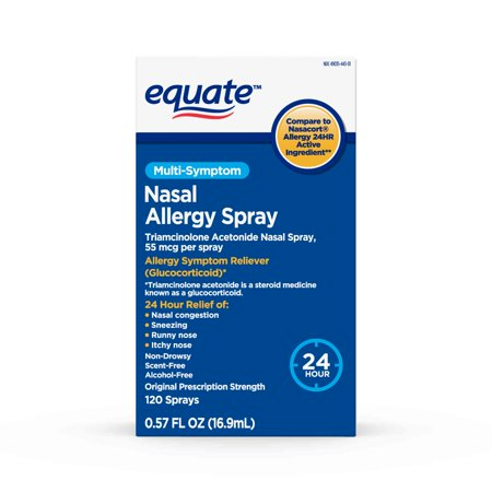Equate Multi-Sympton Nasal Allergy Spray, 120 (Best Nasal Spray In India)
