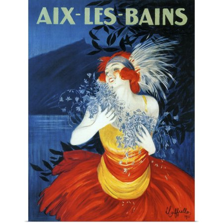 Great BIG Canvas   Rolled Vintage Apple Collection Poster Print entitled Aix-Les-Bains - Vintage Travel Advertisement