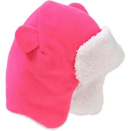 2f3da233af77a Frostline Essentials - Baby Toddler Girl Bear Eared Fleece Trapper Hat -  Walmart.com