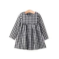 StylesILove Little Girl Checkered Tunic Dress, Black and White (3-4 Years)