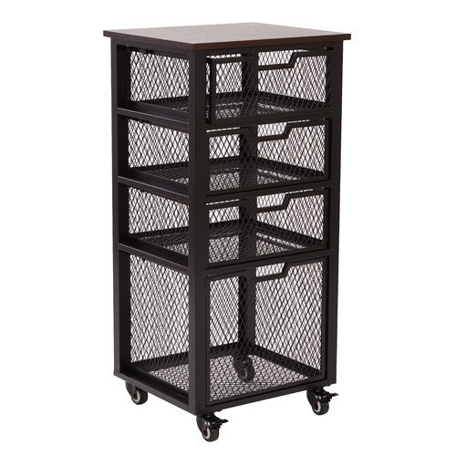 OSP Designs Garret 4 Drawer Rolling Cart
