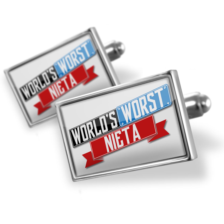 Cufflinks Funny Worlds worst nieta - NEONBLOND