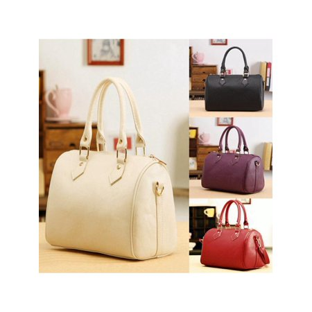 - Fashion Women Girls PU Leather Messenger Satchel Handbag School Shoulder Bag Tote Purse