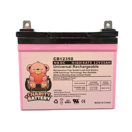 Shepard Meyra 3400 12V 35Ah SLA Wheelchair Battery by Charity Battery