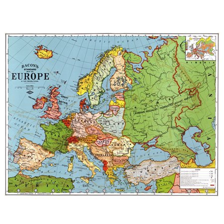 LAMINATED POSTER Europe Map 1923 Country Country Breakdown Borders Poster Print 24 x 36