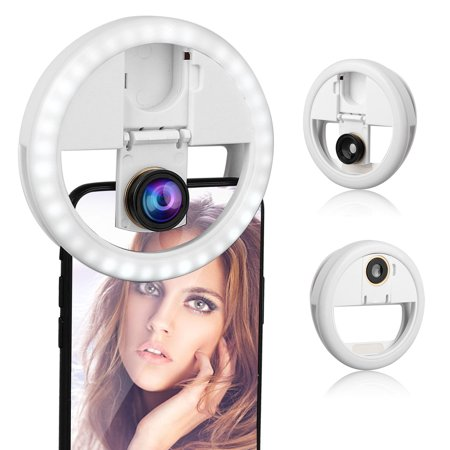 TSV Adjustable 36 LED Selfie Ring Fill Light Lamp Photo Shoot Flash Fill Light with Detachable Lens Kit for iPhone iPad Android Camera Photography Video Make up](Make Halloween Photo Shoot)