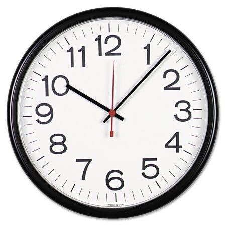 "Universal Indoor/Outdoor Clock, 13 1/2"", Black"