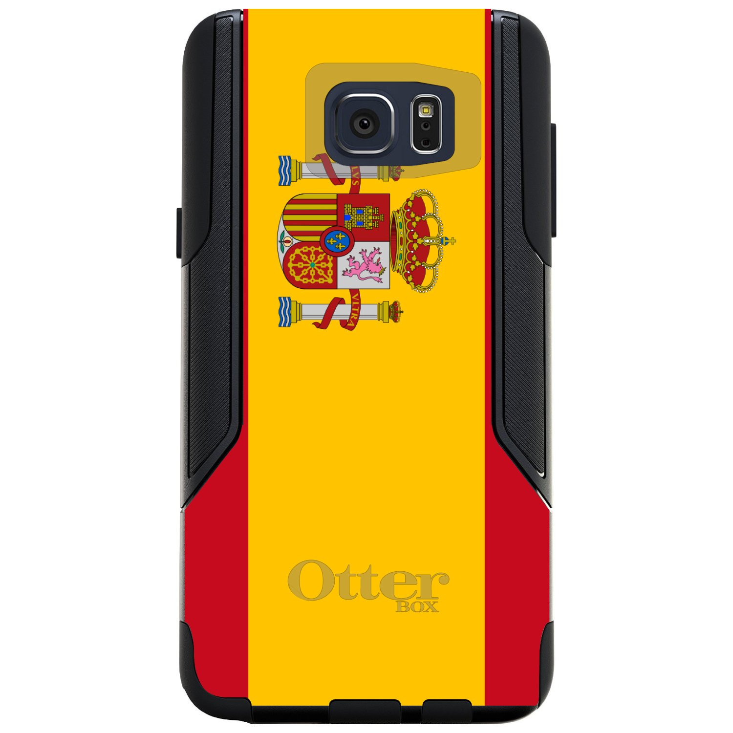DistinctInk Custom Black OtterBox Commuter Series Case for Samsung Galaxy Note 5...
