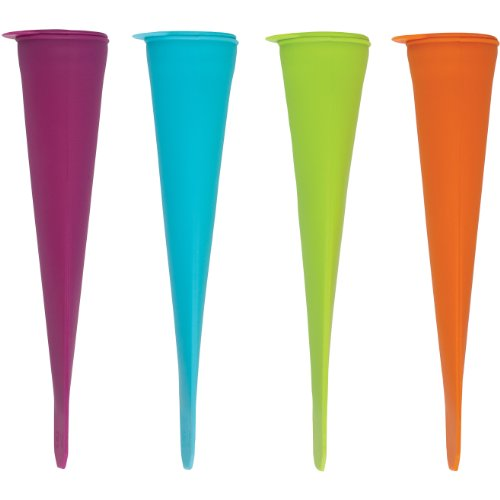 Brights Multicolored Silicone Ice Pop Maker, Set of 4 - Assorted Colors