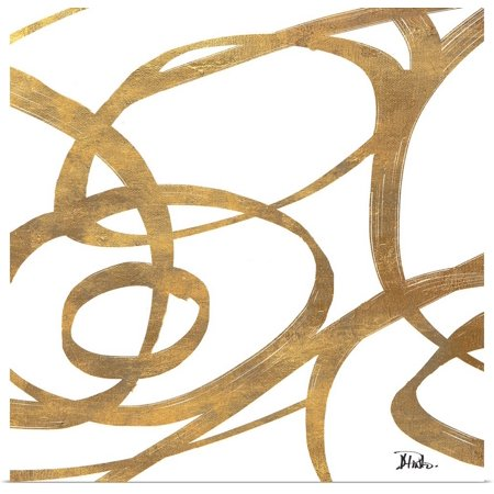 - Great BIG Canvas | Rolled Patricia Pinto Poster Print entitled Golden Swirls Square I