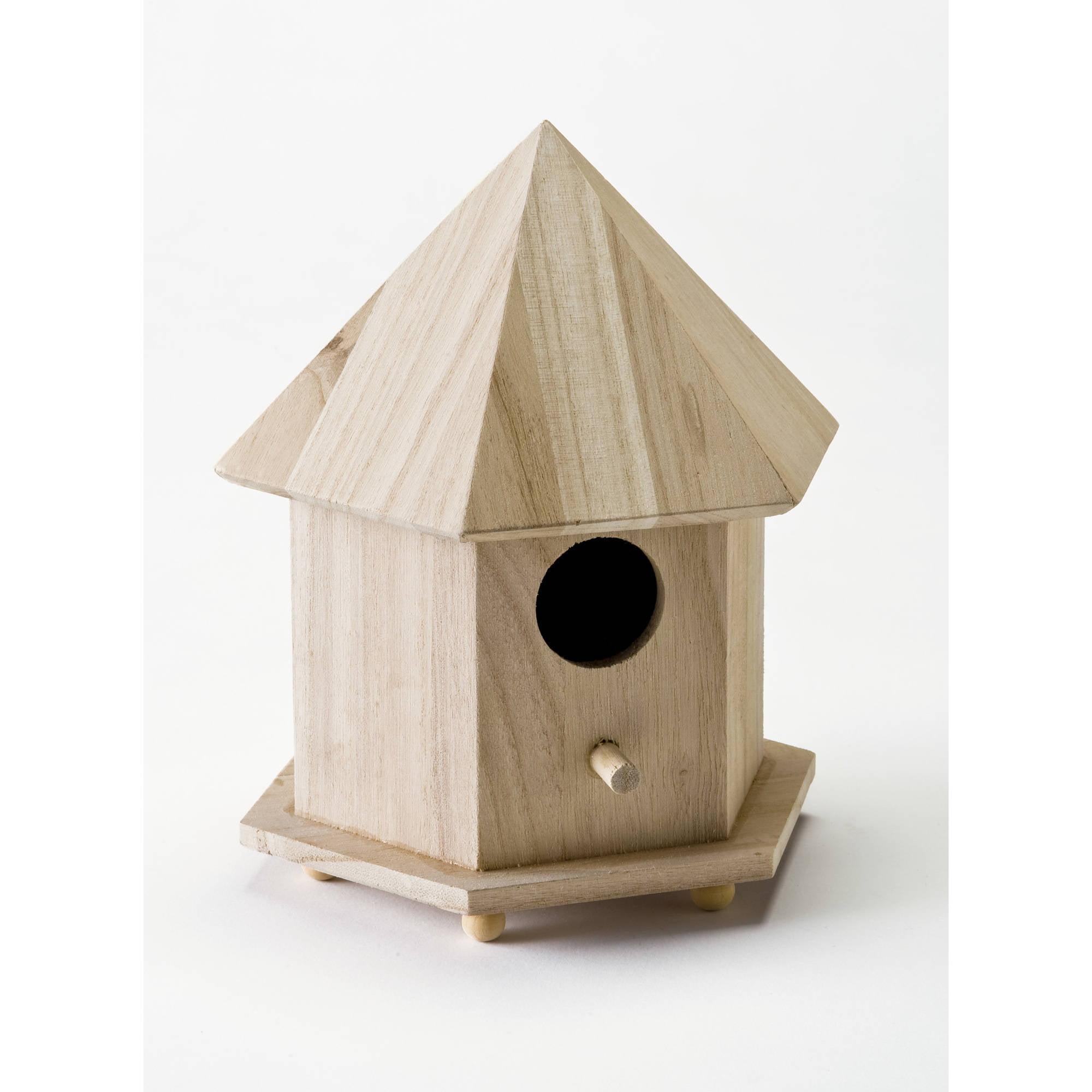 Plaid Wood Surfaces Gazebo Birdhouse, 1 Each