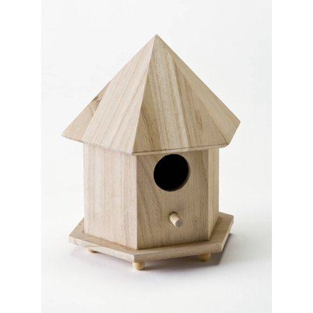 Plaid Wood Surfaces Gazebo Birdhouse, 1 Each