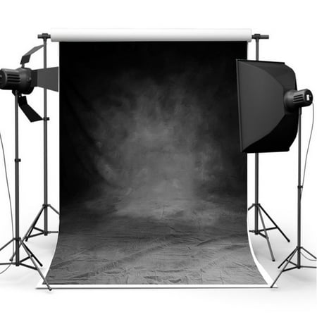 3x5ft Studio Photo Video Photography Backdrops Retro Black & Gray Printed Vinyl Fabric Party Decorations Background Screen Props (Background Party Decorations)