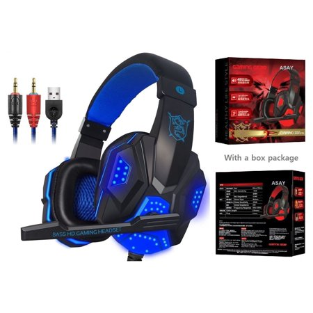 SY830MV Gaming Headphone Game Headset with Mic Stereo Bass LED Light for PC Game Best Gift For Friends - image 5 of 7