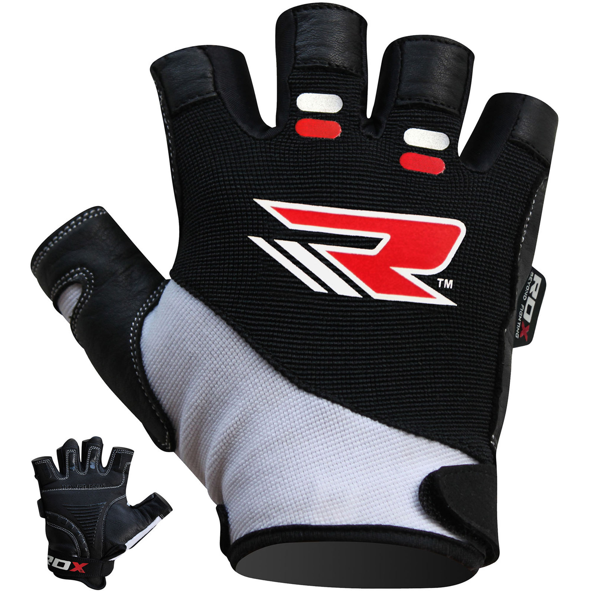 RDX Bodybuilding Weight Lifting Gloves, Large