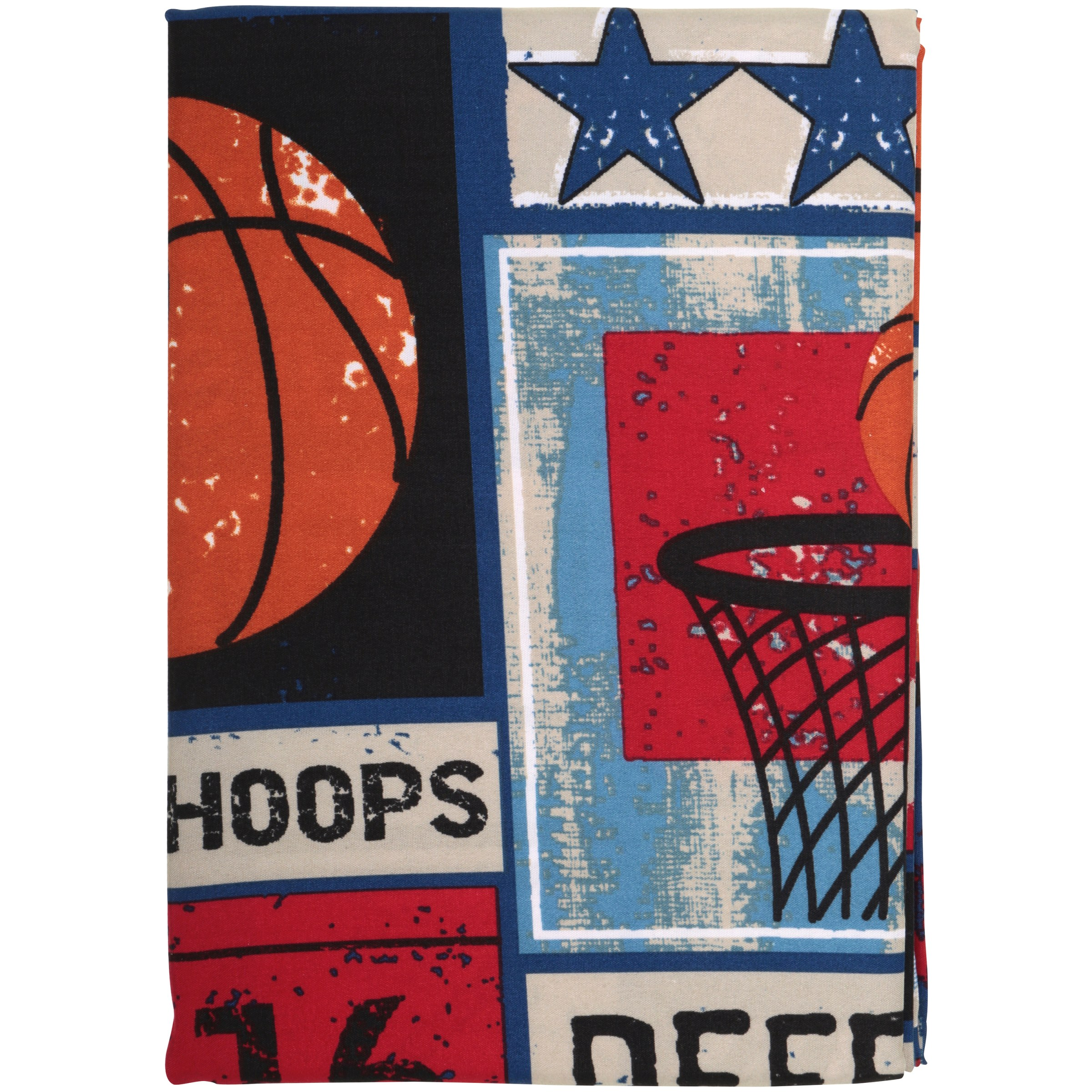 Mainstays™ Kids Sports Patch Red/Blue Fabric Shower Curtain