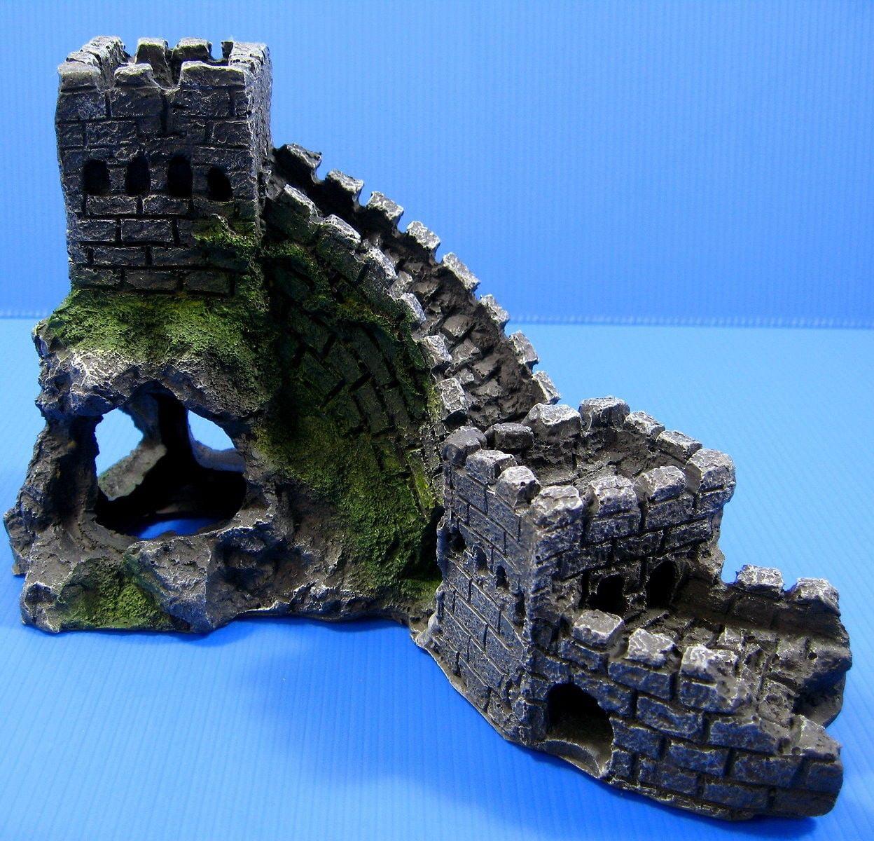 """Great Wall Aquarium Ornament 9""""L - fish tank Decor cave ..."""