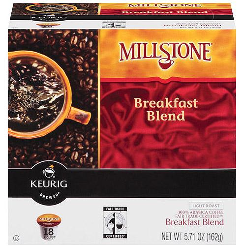 Millstone Breakfast Blend K-Cups Coffee, 18ct
