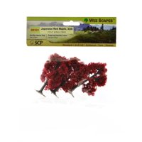 Architectural Model Trees Japanese Red Maple Trees, 2 1/2 in. - 3 in., pack of 3 (pack of 3)