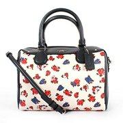 coach tea rose flower mini bennett satchel f57627 chalk multi by