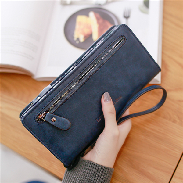 Colorful TV Man Women Leather Long Zipper Wallet Hand Purse