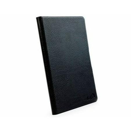 Kroo Black Dash Leather Case for Amazon Kindle Fire Slim Adhesive - Kroo Black Leather