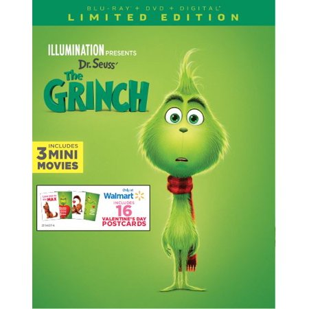 Dr. Seuss The Grinch (Blu-ray + Digital + Exclusive - Halloween Grinch Full Movie