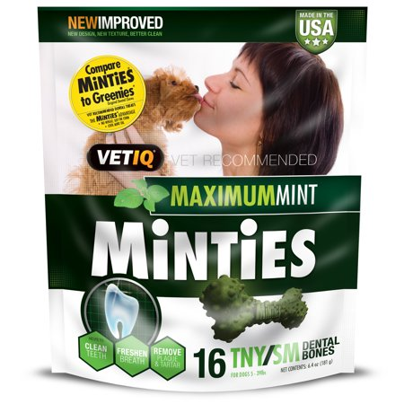 Minties Teeth Cleaner Dental Dog Treats Tiny/Small, 16
