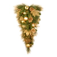 National Tree 3' Decorative Collection Elegance Teardrop with 50 Clear Lights