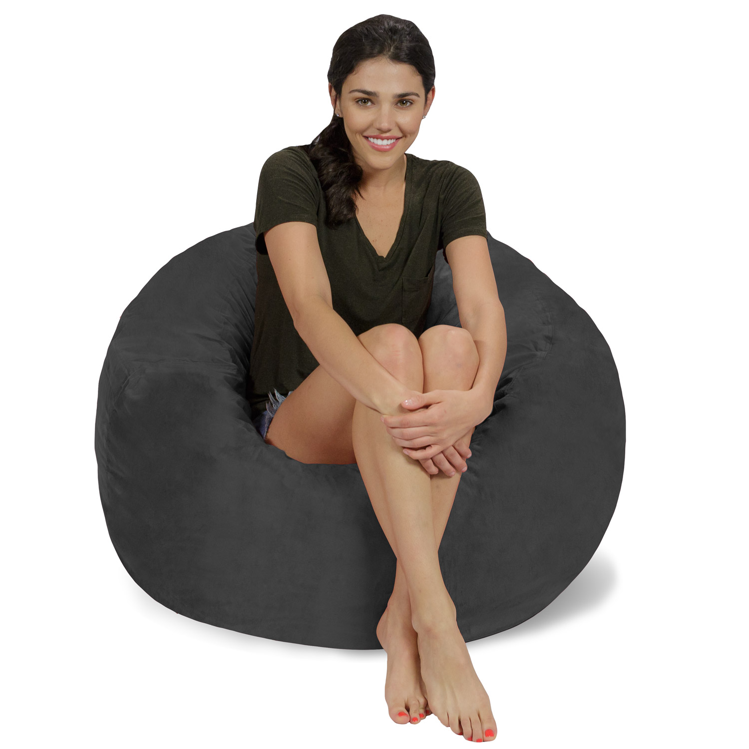 Relax Sacks Memory Foam Bean Bag Chair - 3 ft
