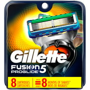 Gillette Fusion ProGlide Power Razor Cartridge Refills, 8 count + 3 Count Eyebrow Trimmer