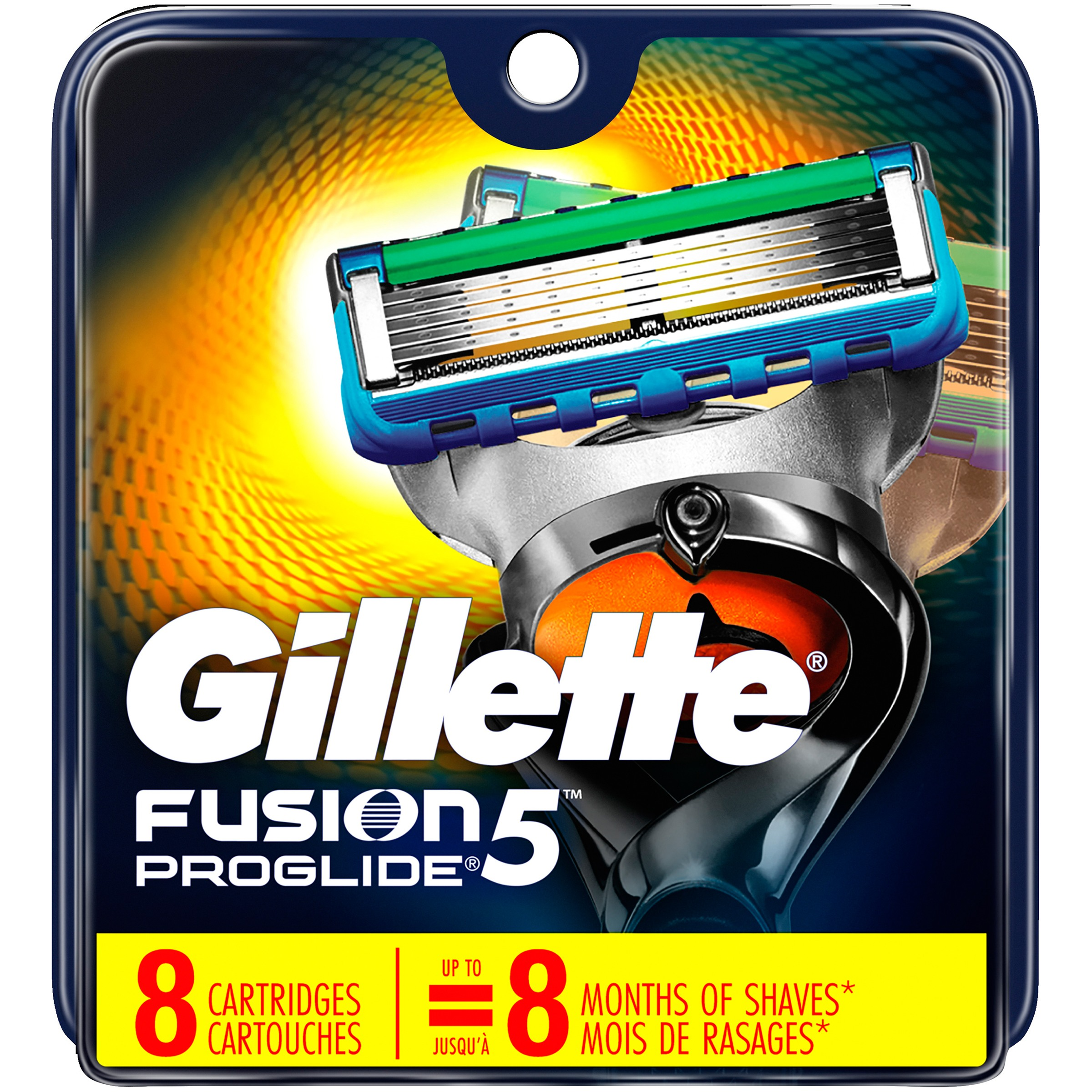 Gillette Fusion ProGlide Power Razor Cartridge Refills, 8 count + Beyond BodiHeat Patch, 1 Ct