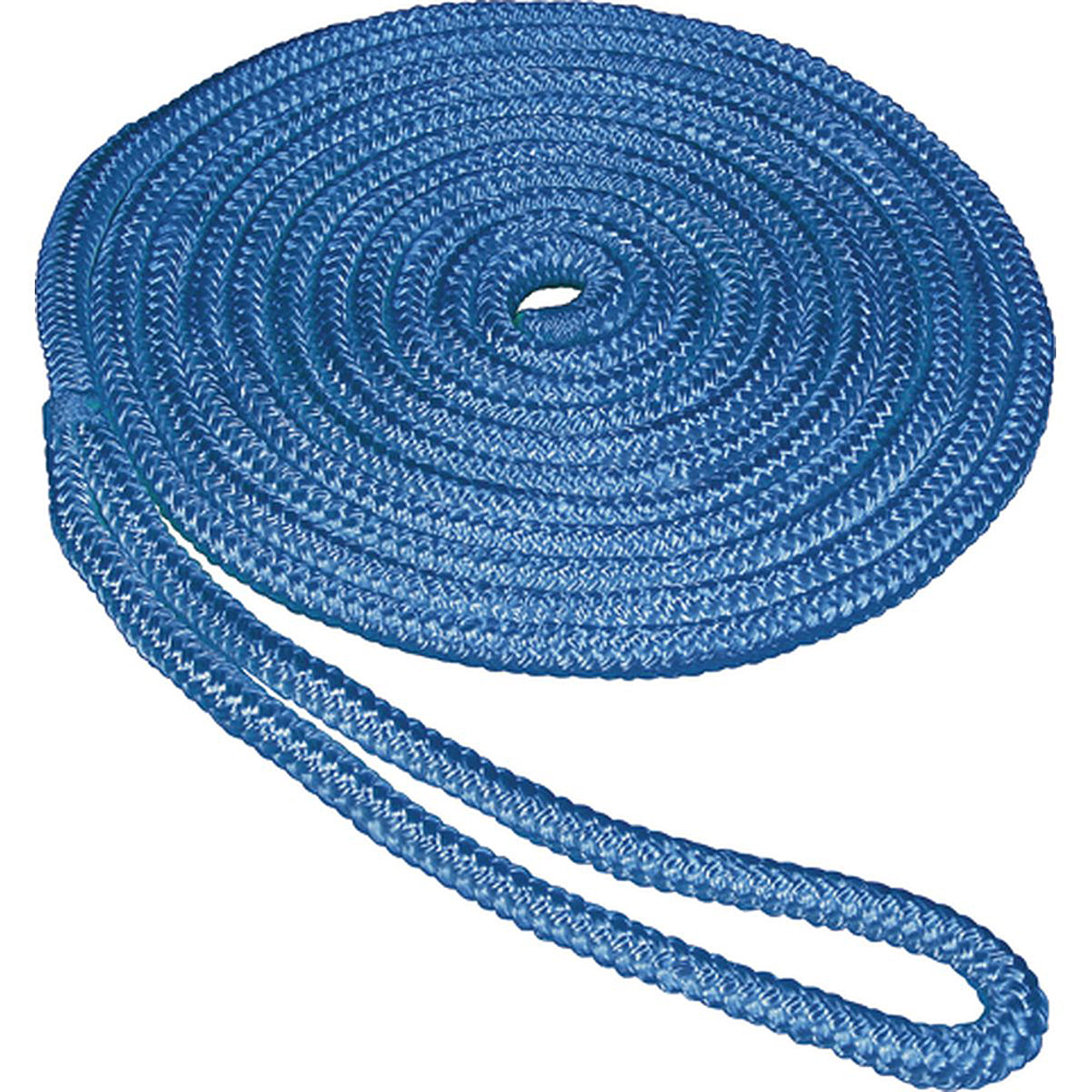 "SeaSense Double Braid Nylon Dock Line, 1 2"" x 35', 12"" Eye, Blue by Generic"