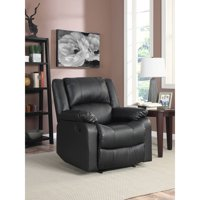 Walmart.com deals on Serta Warren Recliner Single Chair in Black Leather