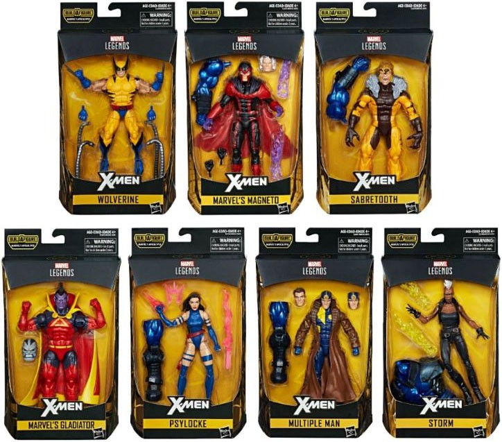 X-Men Marvel Legends Apocalypse Series Set of 7 Action Figures by