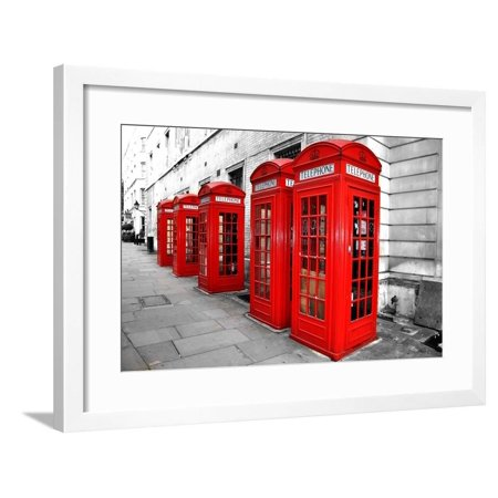 Frame Box Set (London Telephone Boxes Framed Print Wall Art By duallogic)