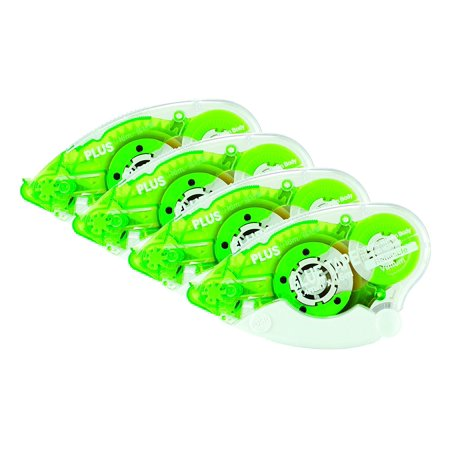 Plus Corporation Glue Tape Tg620BcVe Vellum Adhesive, 4Pack - Glue Tape