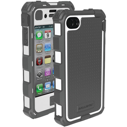 BALLISTIC HA0778-M185 iPhone(R) 4/4S Hard Core(R) Series Case with Holster (Gray/White)