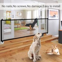 "28.3""H Magic Mesh Gate for Dogs Portable, Indoor and Outdoor"