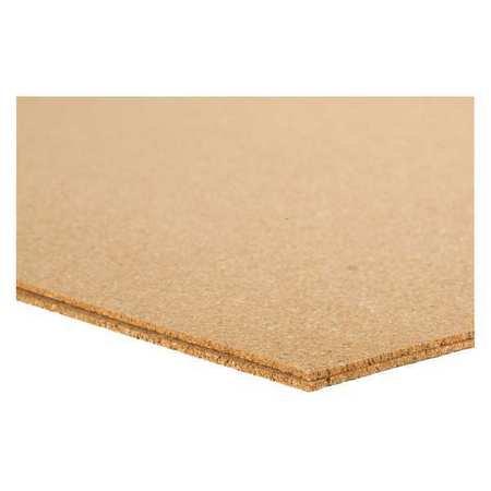QUIETCORK 4NLW4 Cork Sheet, Underlayment, 2 5mm T, 24x36 In