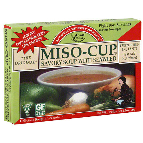 Edward & Sons Savory Seaweed Miso Soup Mix, 2.5 oz (Pack of 12)