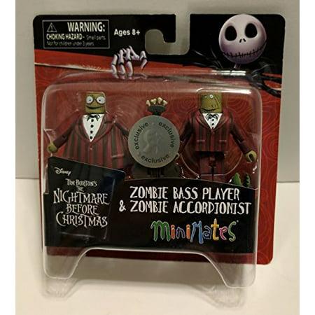 Nightmare Before Christmas Zombie.Minimates Nightmare Before Christmas Zombie Musicians Tru Exclusive Minifigures