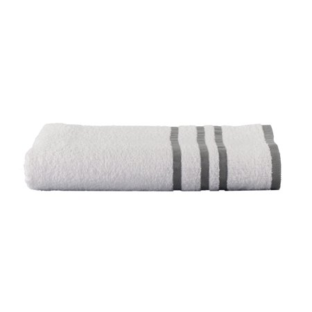 Mainstays Basic Bath Collection - Single Bath Towel, White Stripe